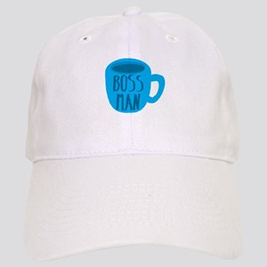 Boss Man with blue coffee cup Cap