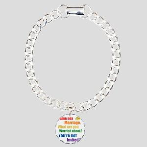 Same Sex Marriage Charm Bracelet, One Charm