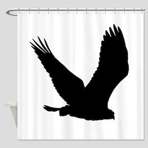 Hawk Silhouette Shower Curtain
