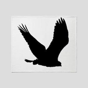 Hawk Silhouette Throw Blanket