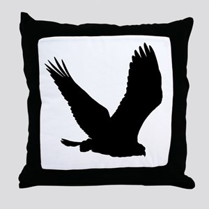 Hawk Silhouette Throw Pillow