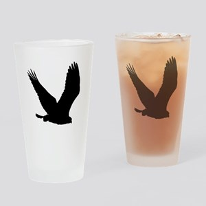 Hawk Silhouette Drinking Glass