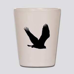 Hawk Silhouette Shot Glass