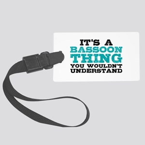 Bassoon Thing Large Luggage Tag