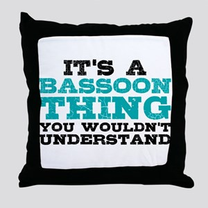 Bassoon Thing Throw Pillow