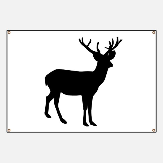 Buck Silhouette Banner