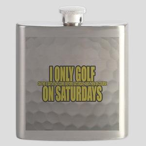 I Only Golf On Saturdays Flask
