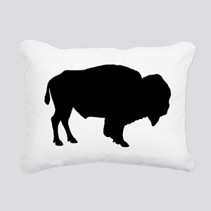 Buffalo Silhouette Rectangular Canvas Pillow