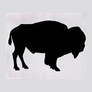 Buffalo Silhouette Throw Blanket