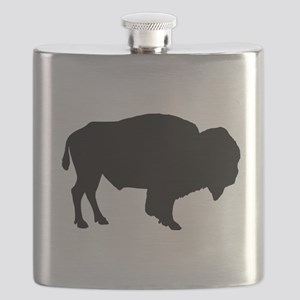 Buffalo Silhouette Flask