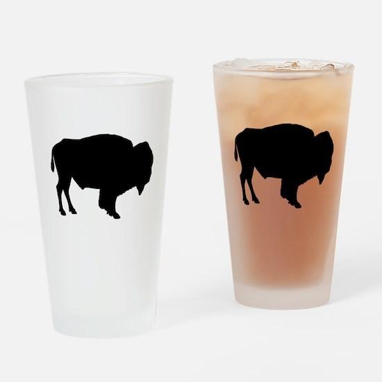 Buffalo Silhouette Drinking Glass