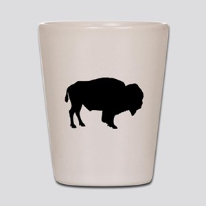 Buffalo Silhouette Shot Glass