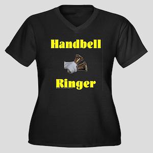 Handbell Ringer Women's Plus Size V-Neck Dark T-Sh