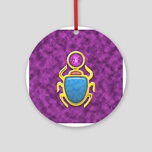 Amethyst Scarab Ornament (Round)