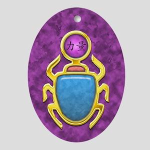 Amethyst Scarab Oval Ornament