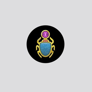 Amethyst Scarab Mini Button