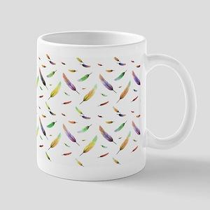 colorful feathers Mugs