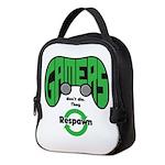 Gamers Dont Die. Neoprene Lunch Bag
