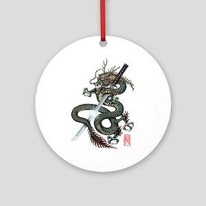 Dragon Katana Ornament (Round)