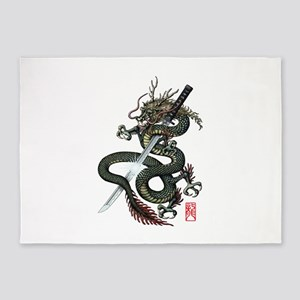 Dragon Katana 5'x7'Area Rug