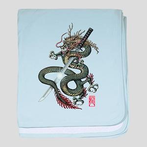 Dragon Katana baby blanket