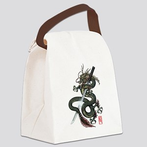 Dragon Katana Canvas Lunch Bag