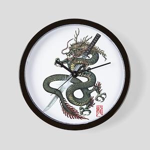 Dragon Katana Wall Clock