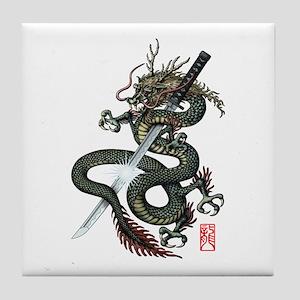 Dragon Katana Tile Coaster
