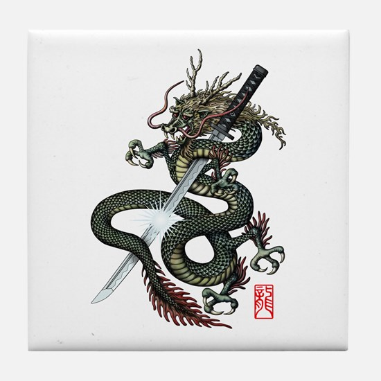 Dragon Katana Tile Coaster