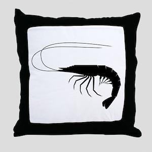 Shrimp Silhouette Throw Pillow