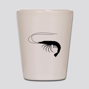 Shrimp Silhouette Shot Glass