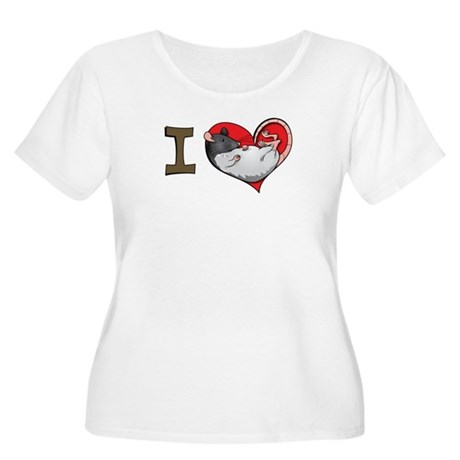 I heart rats (hooded) Women's Plus Size Scoop Neck