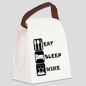 Eat Sleep Wine Canvas Lunch Bag