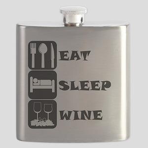 Eat Sleep Wine Flask