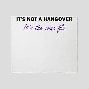 Wine Flu Throw Blanket