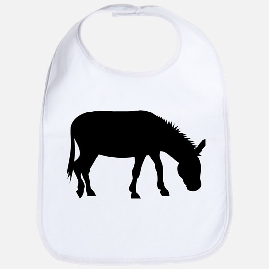 Donkey Silhouette Bib