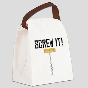Screw It! Wine Corkscrew Canvas Lunch Bag