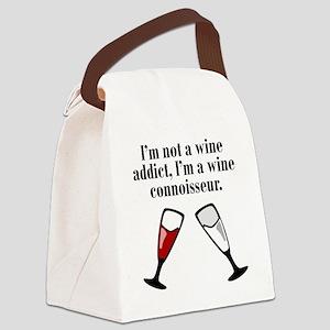 Im A Wine Connoisseur Canvas Lunch Bag