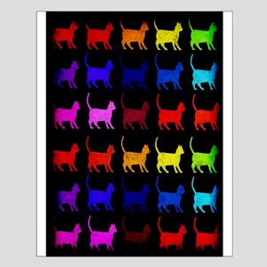 Rainbow Of Cats Small Poster