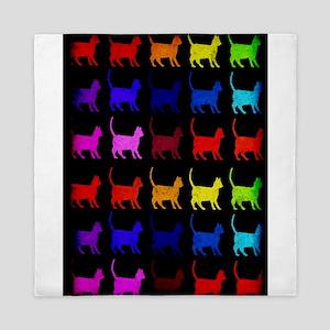 Rainbow Of Cats Queen Duvet