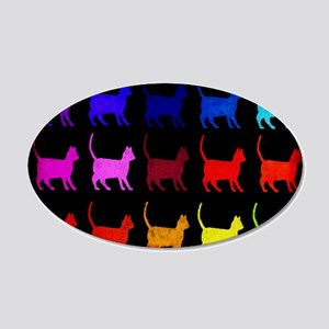 Rainbow Of Cats 20x12 Oval Wall Decal