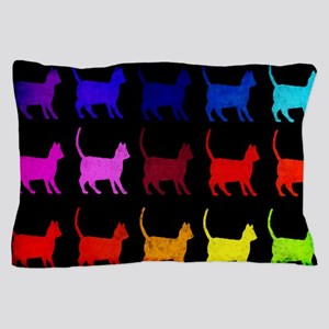 Rainbow Of Cats Pillow Case
