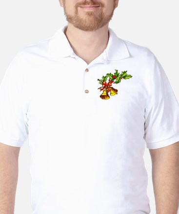 Christmas Bells and Holly Golf Shirt