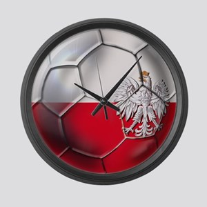 Poland Football Large Wall Clock