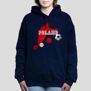 Polish Soccer Player Hooded Sweatshirt