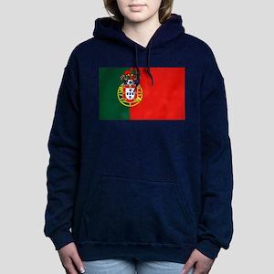 Portugal Football Flag Women's Hooded Sweatshirt