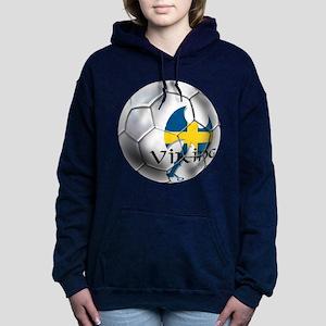 Sweden Soccer Ball Hooded Sweatshirt