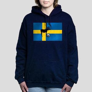 Swedish Soccer Elk Flag Hooded Sweatshirt