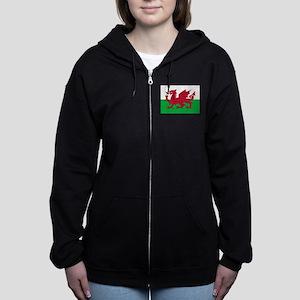 Welsh Flag of Wales Zip Hoodie
