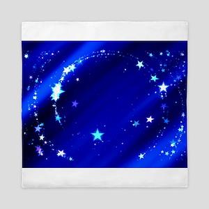 Blue Starry Sky Queen Duvet
